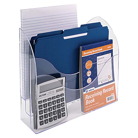 Innovative Storage Designs 3-Tier File Organizer, Clear