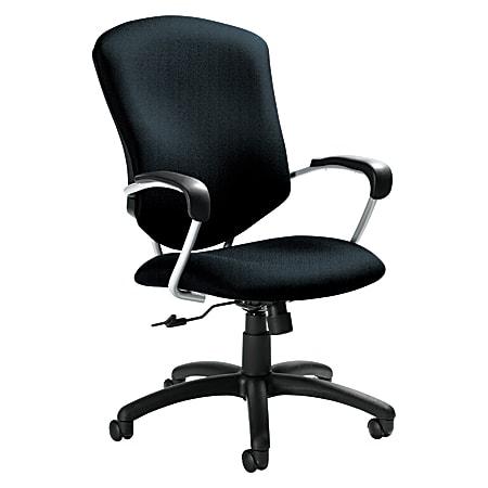 """Global® Supra™ High-Back Fabric Tilter Chair, 42""""H x 26""""W x 27""""D, Cobalt Blue/Tungsten"""