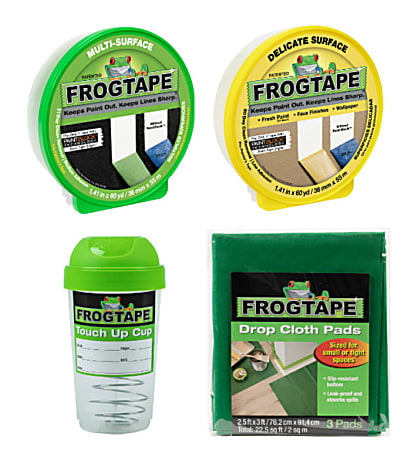 """Duck® Brand FrogTape Contractor's Paint Prep Pack, 1.41"""" x 60 Yd"""
