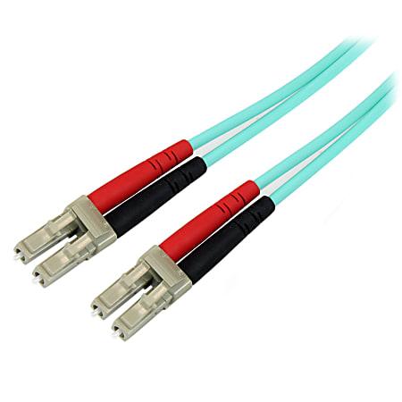 StarTech.com 10m 10 Gb Aqua Multimode 50/125 Duplex LSZH Fiber Patch Cable LC