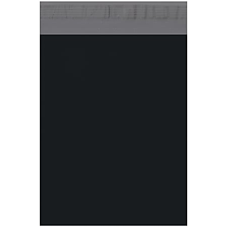 """Office Depot® Brand 10"""" x 13"""" Poly Mailers, Black, Case Of 100 Mailers"""