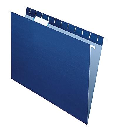 "Office Depot® Brand 2-Tone Hanging File Folders, 1/5 Cut, 8 1/2"" x 11"", Letter Size, Navy, Box Of 25 Folders"