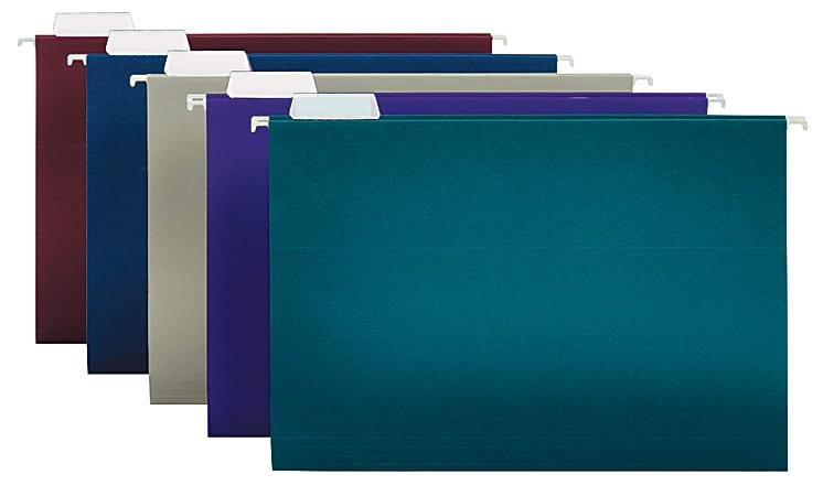 "Office Depot® Brand 2-Tone Hanging File Folders, 1/5 Cut, 8 1/2"" x 14"", Legal Size, Assorted Colors, Box Of 25 Folders"