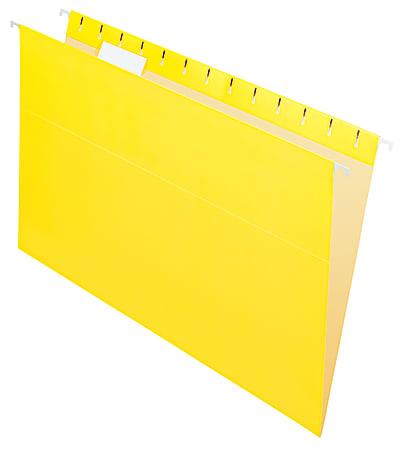 "Office Depot® Brand 2-Tone Hanging File Folders, 1/5 Cut, 8 1/2"" x 14"", Legal Size, Yellow, Box Of 25 Folders"