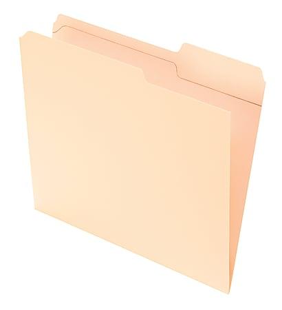 Office Depot® Brand Reinforced Tab File Folders, 2/5 Cut, Letter Size, Manila, Pack Of 100