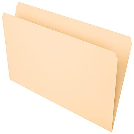 Office Depot® Brand File Folders, Straight Cut, Legal Size, Manila, Pack Of 100