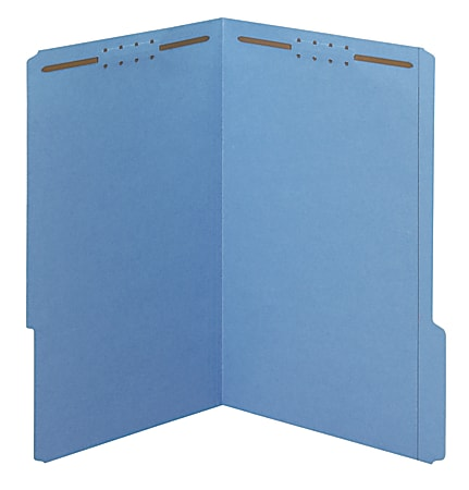 """Office Depot® Brand Color Fastener File Folders, Legal Size (8-1/2"""" x 14""""), 2"""" Expansion, Blue, Box Of 50"""