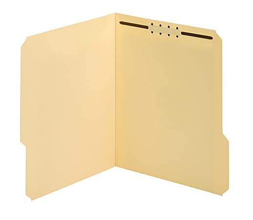 Office Depot® Brand Manila Fastener Folders, 1 Fastener, 1/3 Tab Cut Assorted, Letter Size, Box of 50 Folders