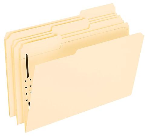 Office Depot® Brand Manila Fastener Folders, 1 Fastener, 1/3 Tab, Legal Size, Box of 50 Folders