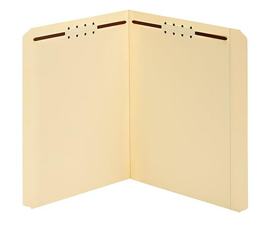 Office Depot® Brand Manila Fastener Folders, 2 Fasteners, Straight Cut, Letter Size, Box of 50 Folders