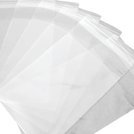 """Office Depot® Brand Resealable Polypropylene Bags, 6"""" x 11"""", Clear, Pack Of 1,000"""