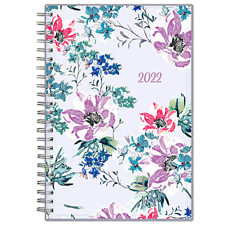 """Blue Sky™ CYO Weekly/Monthly Safety Wirebound Planner, 5"""" x 8"""", Laila, January to December 2022, 137276"""