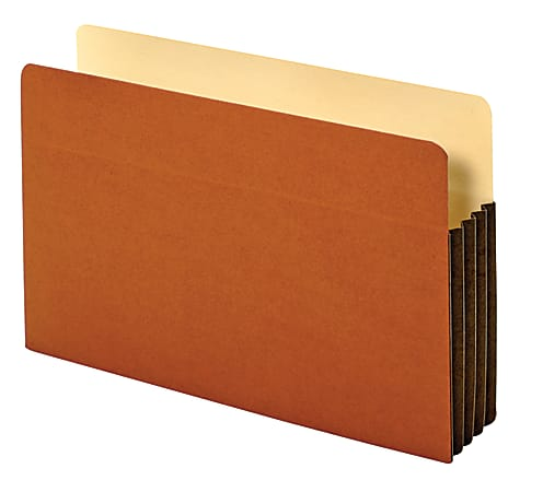 """Office Depot® Brand Heavy-Duty File Pockets, 3 1/2"""" Expansion, 8 1/2"""" x 14"""", Legal Size, 30% Recycled, Brown, Box Of 10 File Pockets"""