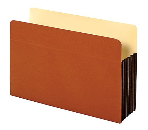 """Office Depot® Brand Heavy-Duty File Pockets, 5 1/4"""" Expansion, 8 1/2"""" x 14"""", Legal Size, 30% Recycled, Brown, Box Of 10 File Pockets"""