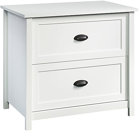 """Sauder® County Line 34""""W Lateral 2-Drawer File Cabinet, Soft White"""