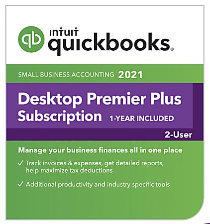 Intuit® QuickBooks® Desktop Premier Plus 2021, For 2 Users, Windows®, Download