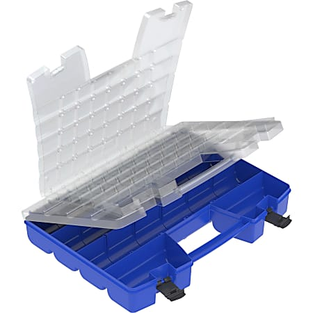 Akro-Mils Portable Organizer, Clear/Blue