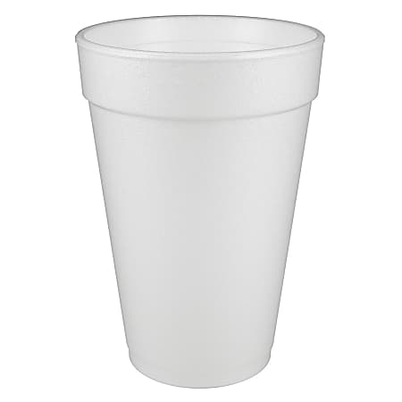 Dart® Insulated Foam Drinking Cups, White, 16 Oz, Box Of 1,000 Cups