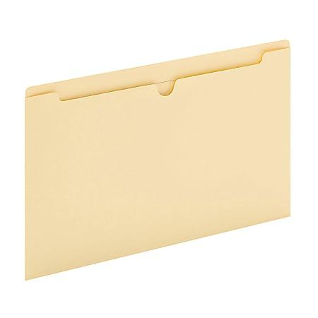 "Office Depot® Brand Manila Single-Top File Jackets, 8 1/2"" x 14"", Legal Size, Box Of 100 File Jackets"
