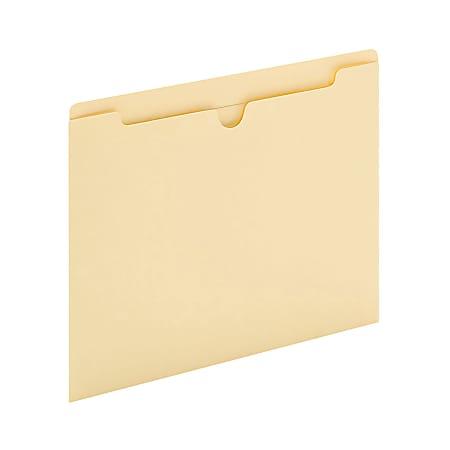 "Office Depot® Brand Manila File Jackets, Reinforced Tab, 8 1/2"" x 11"", Box of 100 File Jackets"