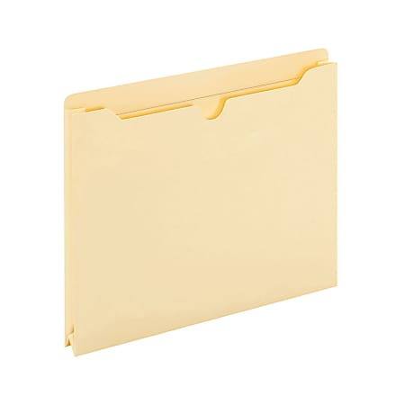 "Office Depot® Brand Manila File Jackets, 1"" Expansion, 8 1/2"" x 11"", Box of 50 File Jackets"