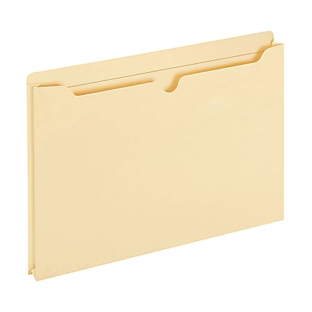 "Office Depot® Brand Manila Double-Top File Jackets, 1"" Expansion, Legal Size, Box Of 50"