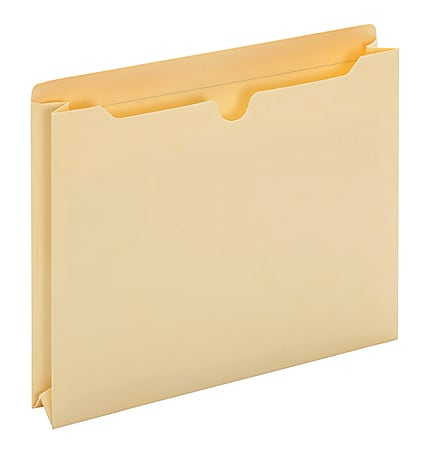 """Office Depot® Brand Manila Double-Top File Jackets, 2"""" Expansion, Letter Size, Box Of 50"""
