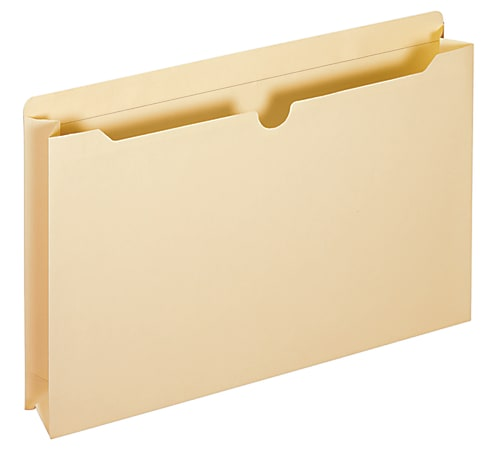 """Office Depot® Brand Manila Double-Top File Jackets, 2"""" Expansion, Legal Size, Box Of 50"""
