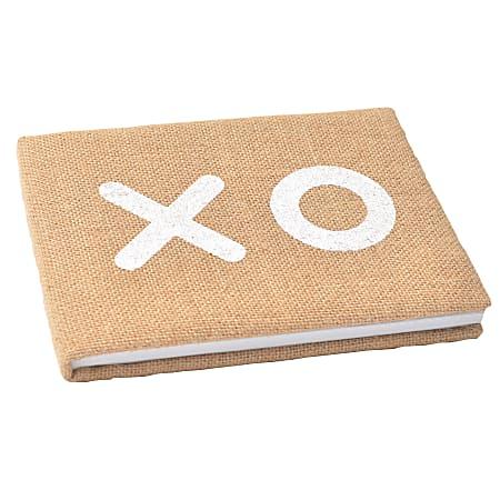"BRIDES® XO Guest Book, 8 1/4"" x 6"", Tan"
