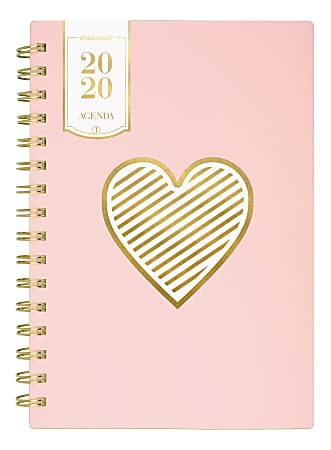 """See Jane Work® Heart Of Gold Weekly/Monthly Planner, 8-1/2"""" x 11"""", Pink, January To December 2020, SJ125-905"""