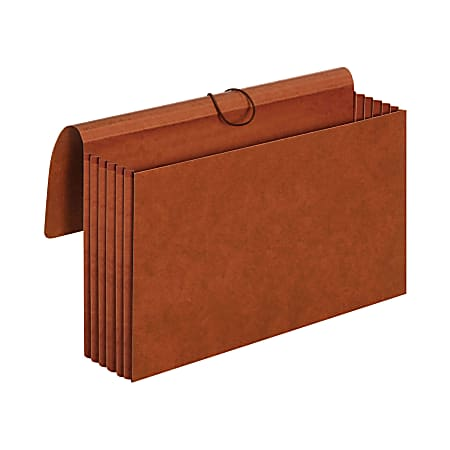 """Pendaflex® Redrope Standard Expansion Wallets, 5 1/4"""" Expansion, Legal Size, 100% Recycled, Red, Pack Of 10 Wallets"""