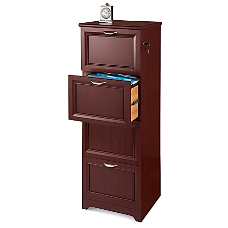 """Realspace® Magellan 19""""D 4-Drawer Vertical File Cabinet, Classic Cherry"""