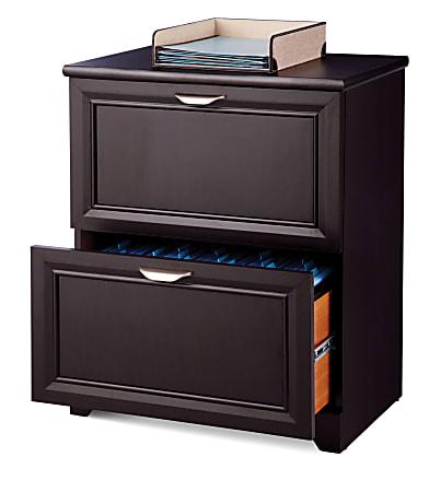 "Realspace® Magellan 24""W 2-Drawer Lateral File Cabinet, Espresso"