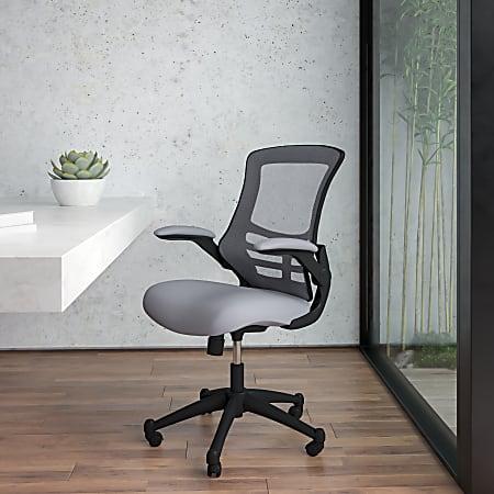 Flash Furniture Ergonomic Mid-Back Mesh Drafting Chair, Gray