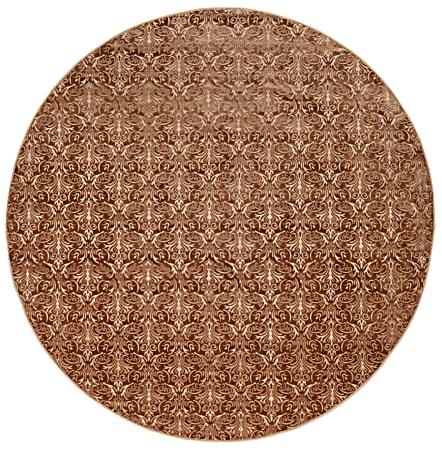 Linon Banyon Harmon Round Area Rug, 8', Brown