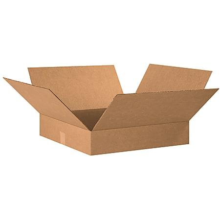 "Office Depot® Brand Flat Corrugated Cartons, 20"" x 20"" x 4"", Kraft, Pack Of 10"