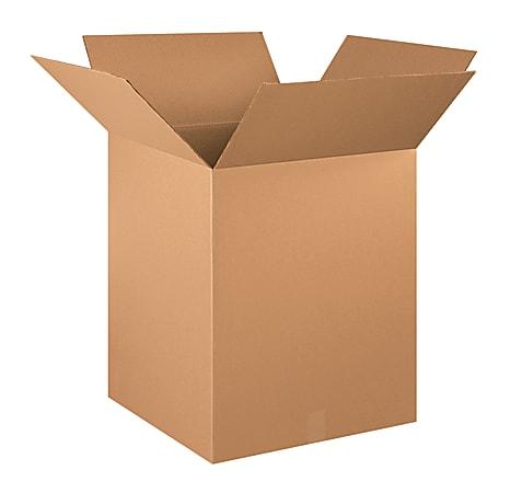 "Office Depot® Brand Corrugated Cartons, 20"" x 20"" x 25"", Kraft, Pack Of 10"