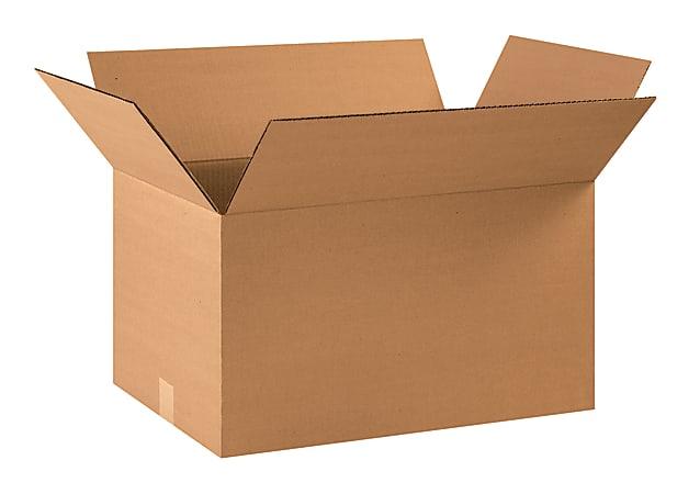 "Office Depot® Brand Corrugated Cartons, 22"" x 14"" x 12"", Kraft, Pack Of 20"