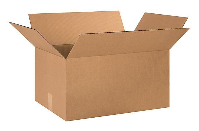 "Office Depot® Brand Corrugated Cartons, 24"" x 16"" x 12"", Kraft, Pack Of 10"