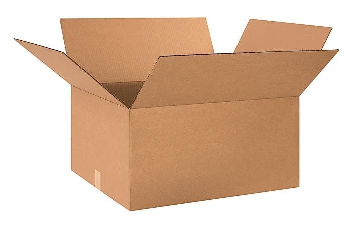 "Office Depot® Brand Corrugated Cartons, 24"" x 20"" x 12"", Kraft, Pack Of 10"