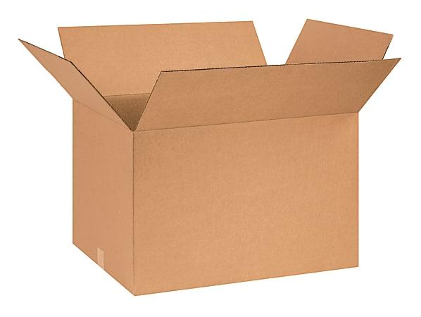 "Office Depot® Brand Corrugated Cartons, 26"" x 18"" x 16"", Kraft, Pack Of 10"