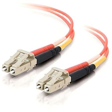 C2G-8m LC-LC 50/125 OM2 Duplex Multimode Fiber Optic Cable (TAA Compliant) - Orange - Fiber Optic for Network Device - LC Male - LC Male - 50/125 - Duplex Multimode - OM2 - TAA Compliant - 8m - Orange