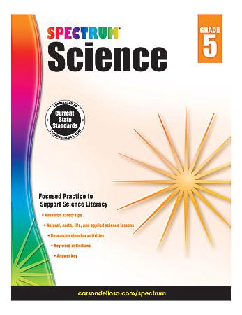 Carson-Dellosa Spectrum Science Workbook, Grade 5