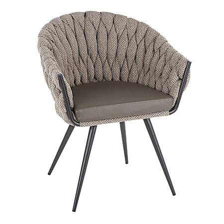 LumiSource Braided Matisse Chair, Black/Gray