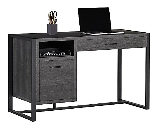 "Realspace® DeJori 51""W Writing Desk, Charcoal"