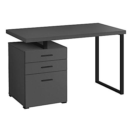 """Monarch Specialties Melody 48""""W Computer Desk, Gray"""