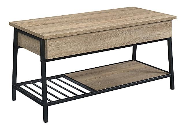 "Sauder® North Avenue Lift-Top Coffee Table, 18-1/8""H x 37""W x 17""D, Charter Oak"