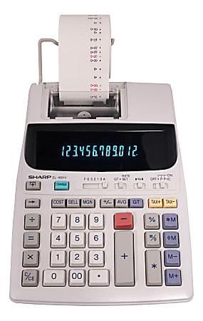 Sharp® EL-1801V 12-Digit Printing Calculator