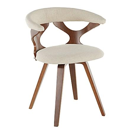 LumiSource Gardenia Chair, Cream Seat/Walnut Frame
