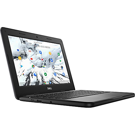 "Dell Chromebook 11 3000 3100 11.6"" Touchscreen 2 in 1 Chromebook - HD - 1366 x 768 - Intel Celeron N4020 Dual-core - 4 GB RAM - 32 GB Flash Memory - Black - Chrome OS - Intel HD Graphics - 13 Hour Battery"